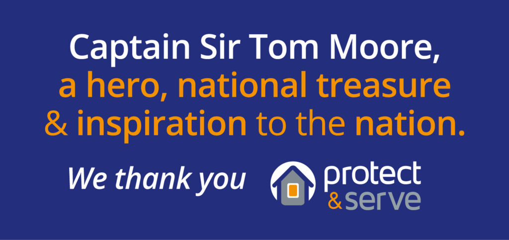 Captain Sir Tom Moore, a hero, national treasure and inspiration to the nation. We thank you