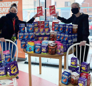 Protect and Serve Staff donating eggs this Easter to local children in Castle Vale