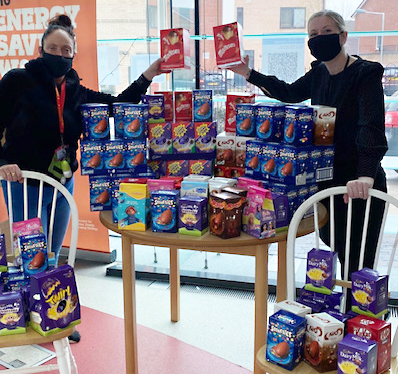 Egg-cellent Easter donations made by Protect & Serve staff